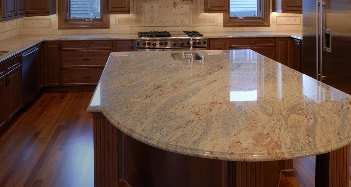 polished granite countertop